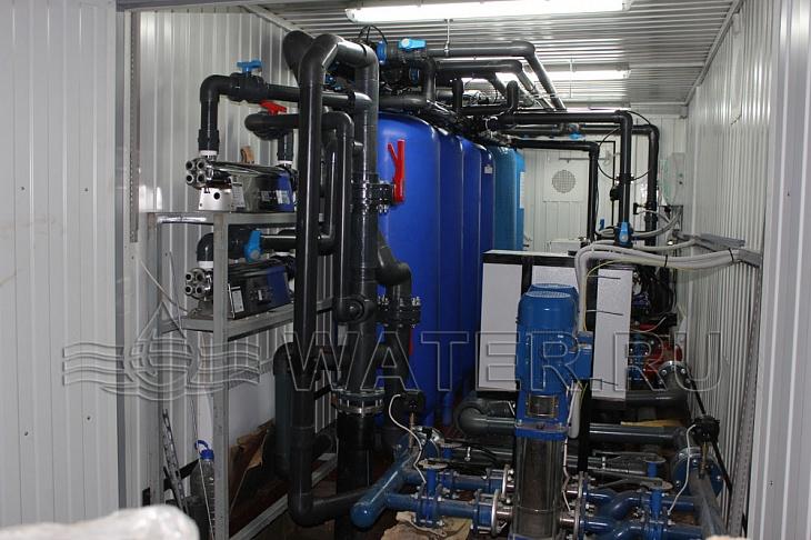 модульная станция водоподготовки в контейнере